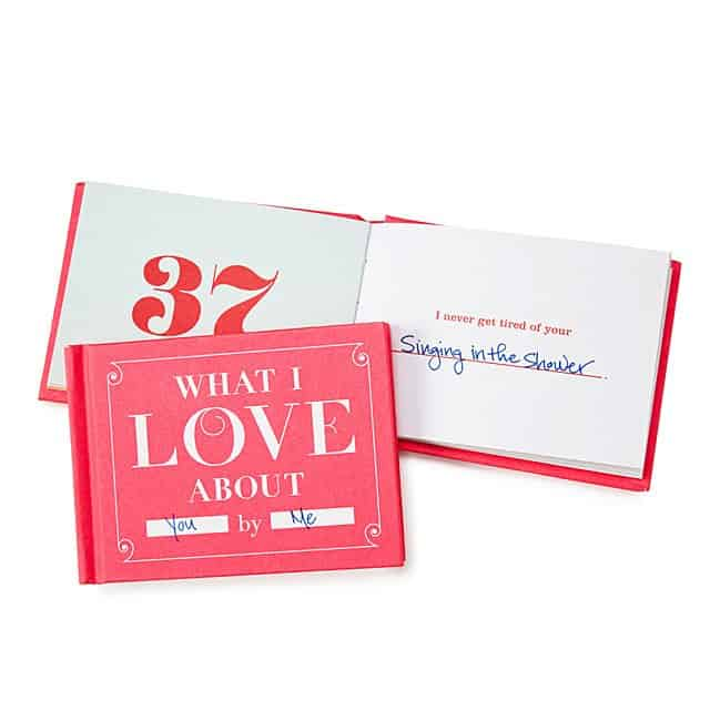 stocking stuffer ideas for women: what i love about you by me book