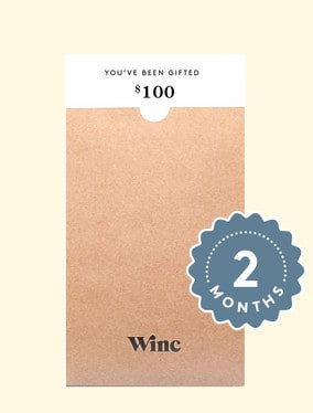 wine gift ideas: winc subscription gift card