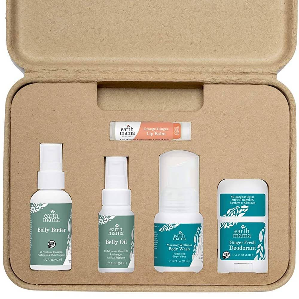a skincare gift set for a pregnant woman