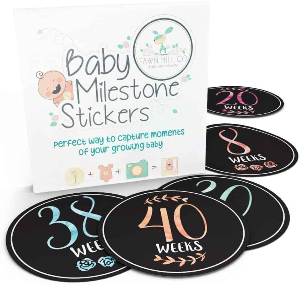 Baby Belly Bump Weekly Milestone Stickers