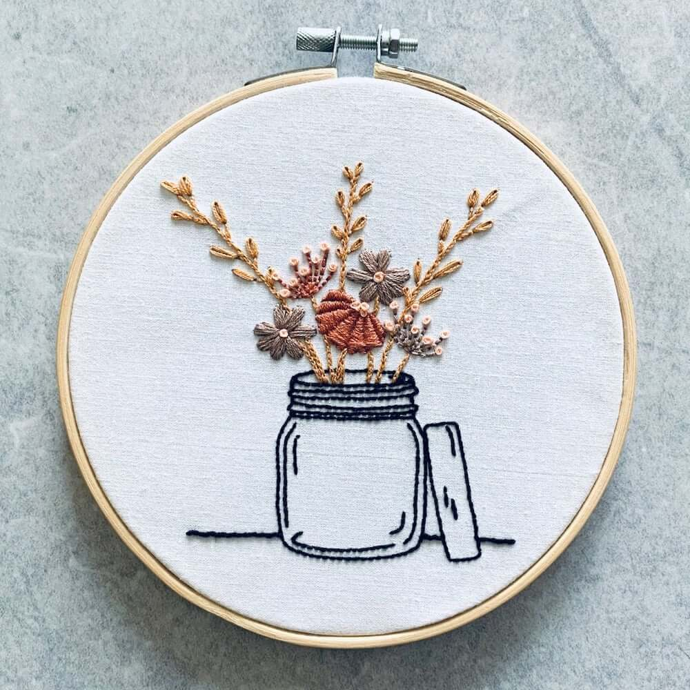 Embroidery Kit for Mindfulness and Stress Relief