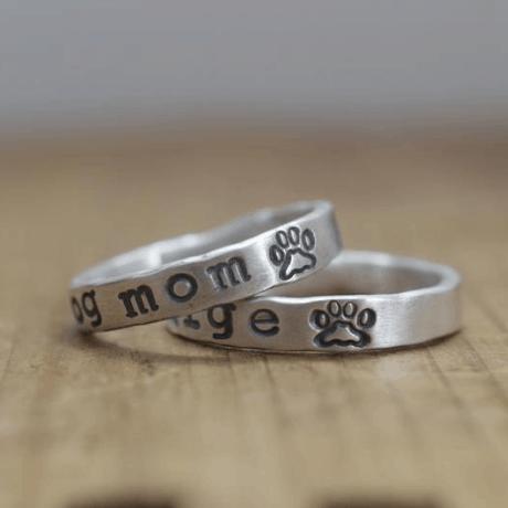 Paw Print Ring - dog mom gift