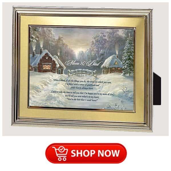 christmas gifts for older parents: sentimental poem frame