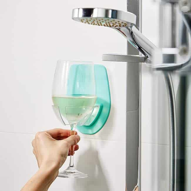 Silicone Wine Glass Holder for Relaxing in bath