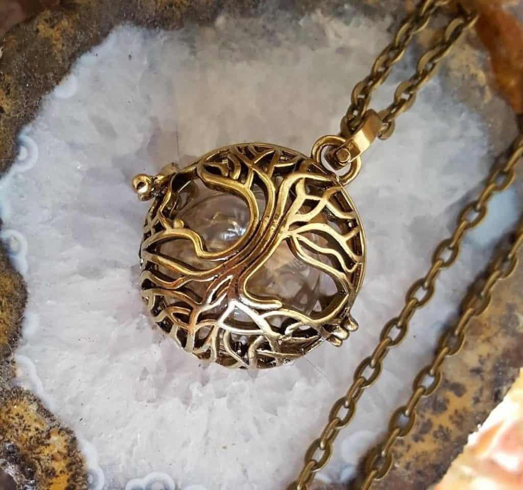 Tree of Life Cremation Urn Locket - sympathy gifts
