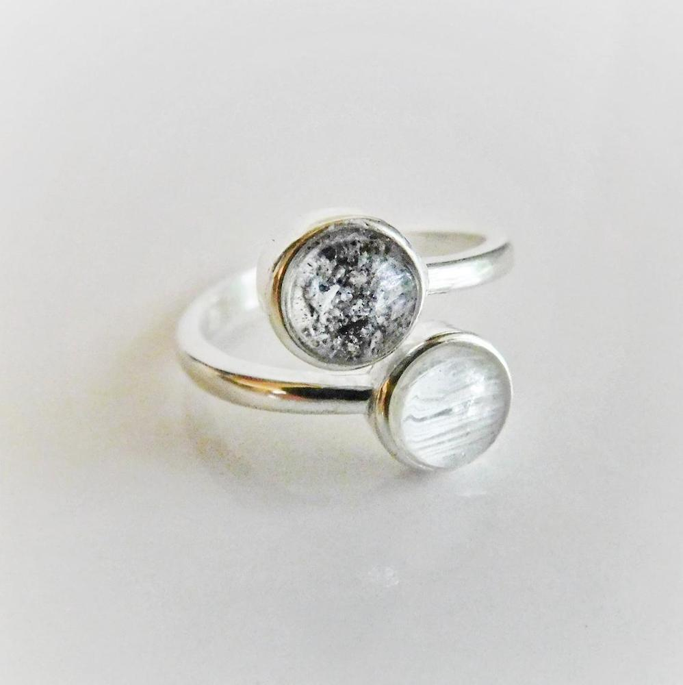 ash urn ring as a memorial gift for women