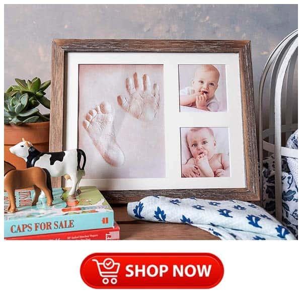 baby's handprints keepsake frame