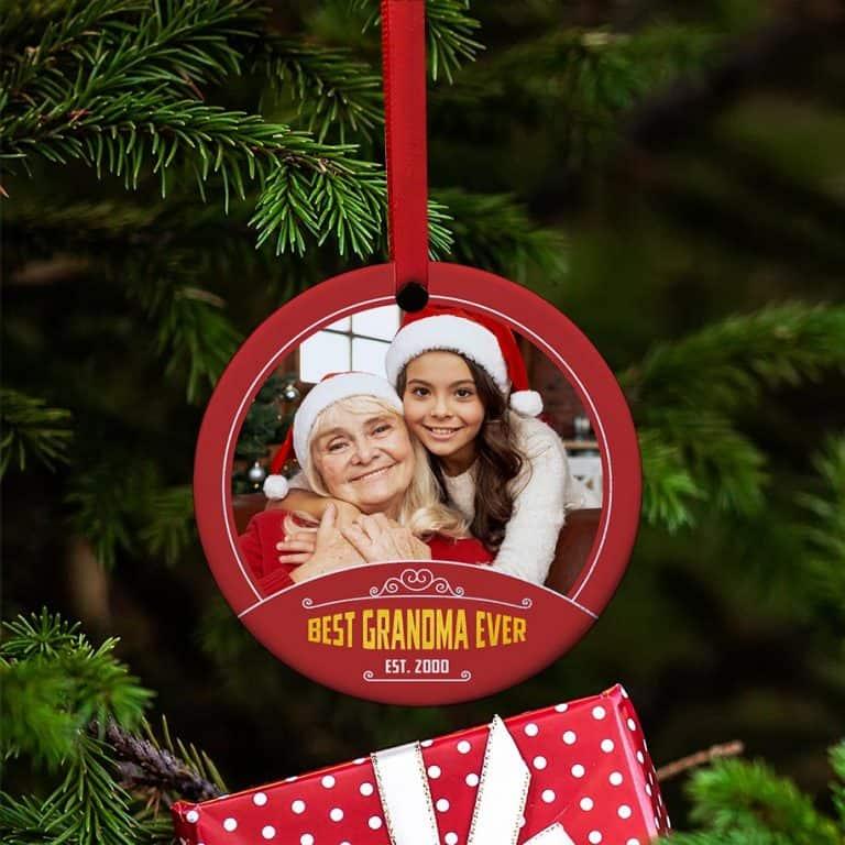 best grandma ever photo ornament