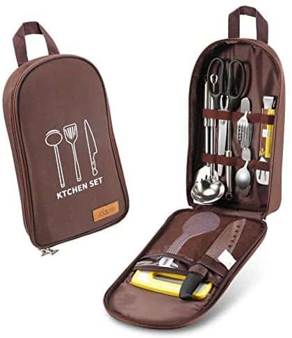 cool camping gift: camping kitchen utensils