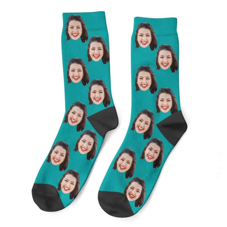 unique gag gifts: custom face socks