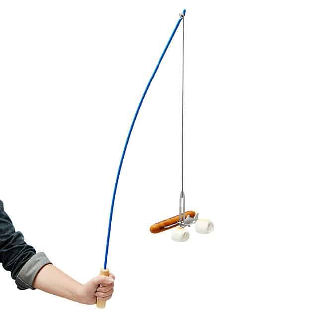 unique camping gifts: fishing pole roaster