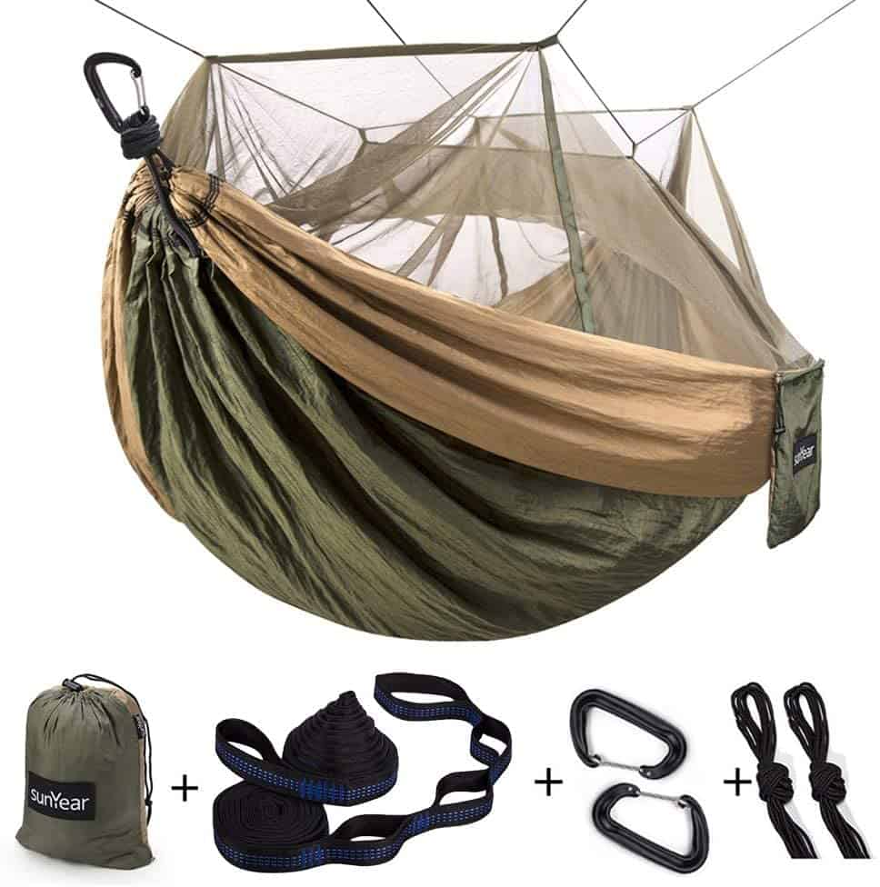 gifts for camping lovers: hammock with bug net