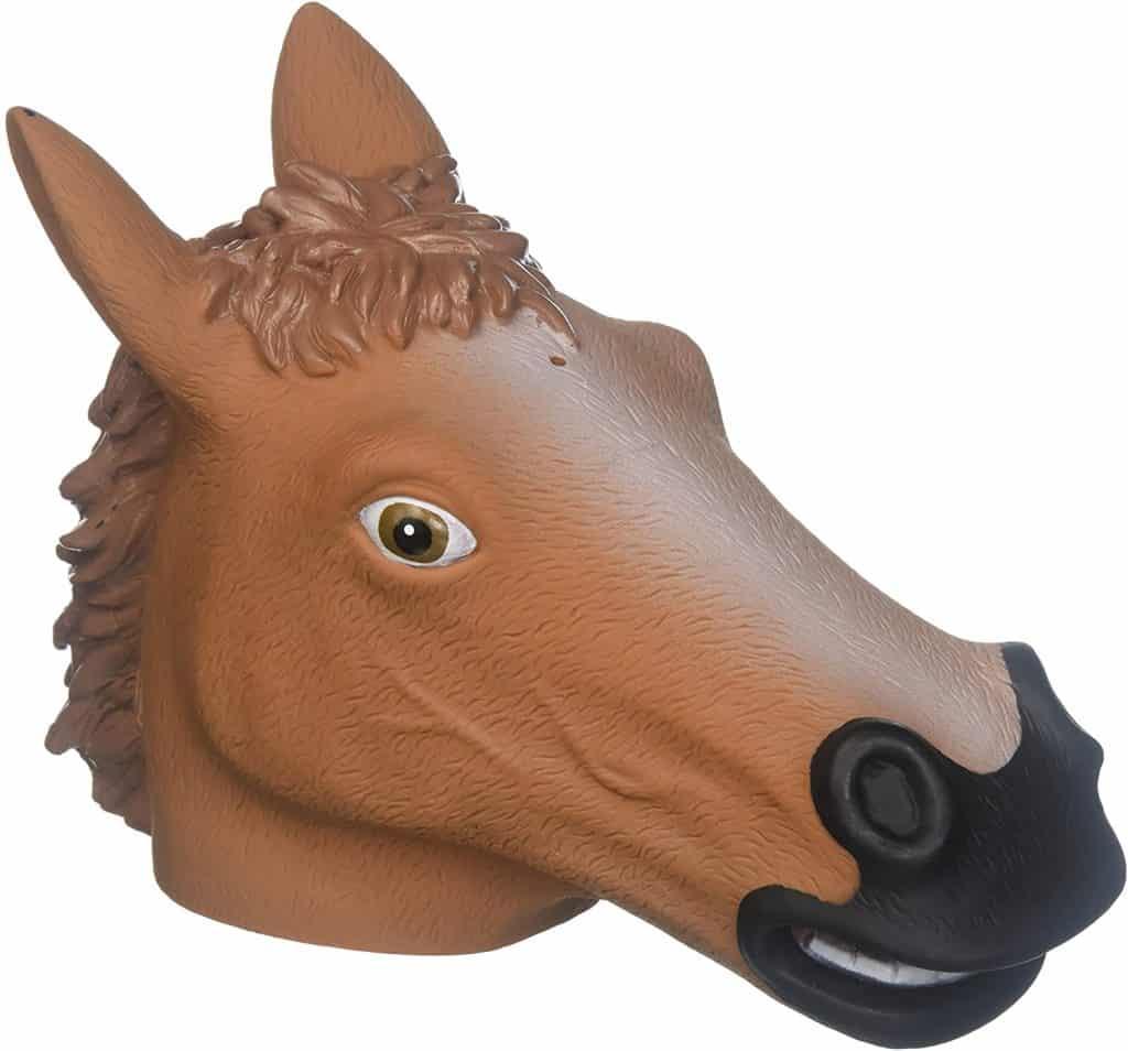 silly gift: horse head squirrel feeder