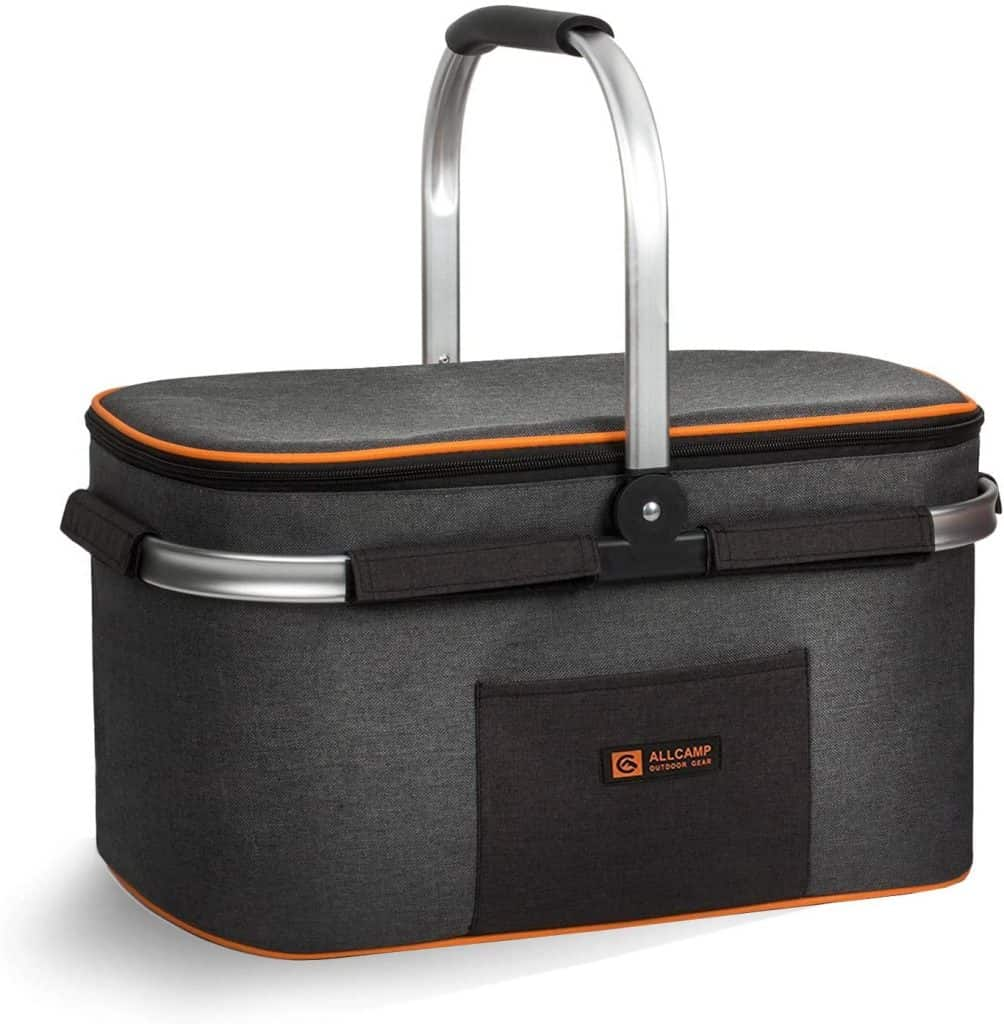 gifts for camping lovers: insulated picnic basket