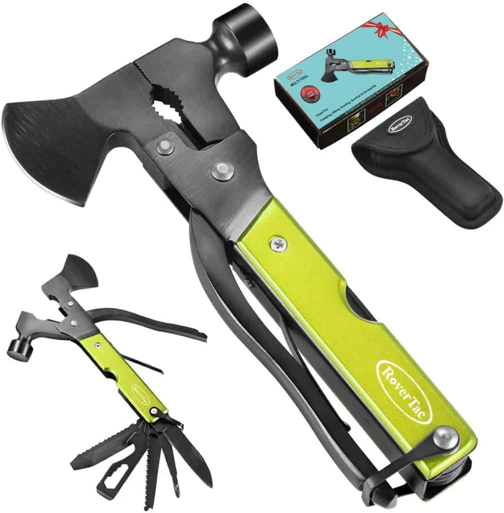 cool camping gift ideas: multitool hatchet