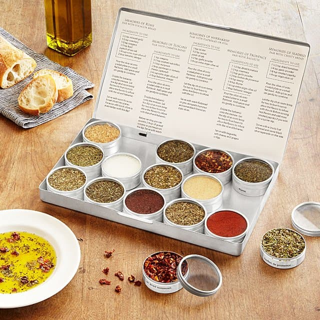 gifts for cooking enthusiasts: gourmet oil dipping spice kit