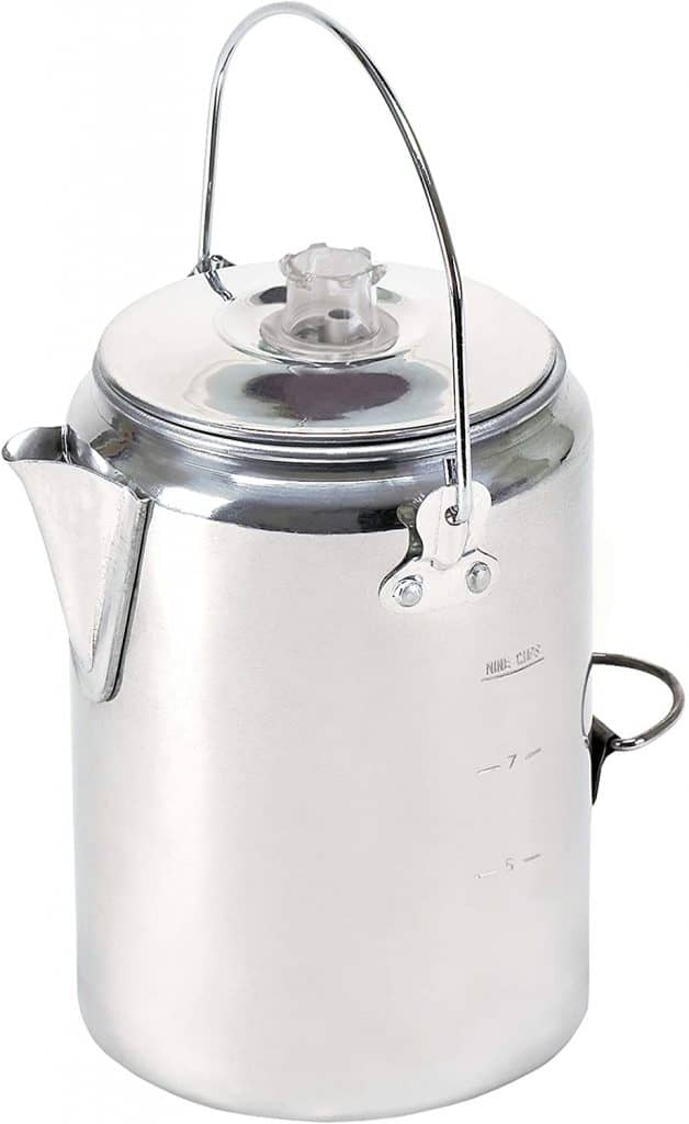 gifts for coffee lovers who like to camp: percolator coffee pot