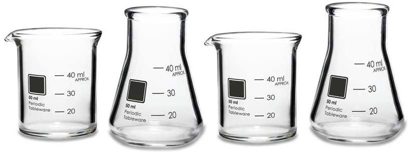 gag gifts for christmas exchange: periodic tableware shot glasses