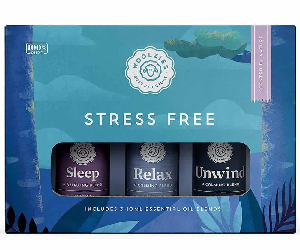 pure stress free essential oil blend gift set