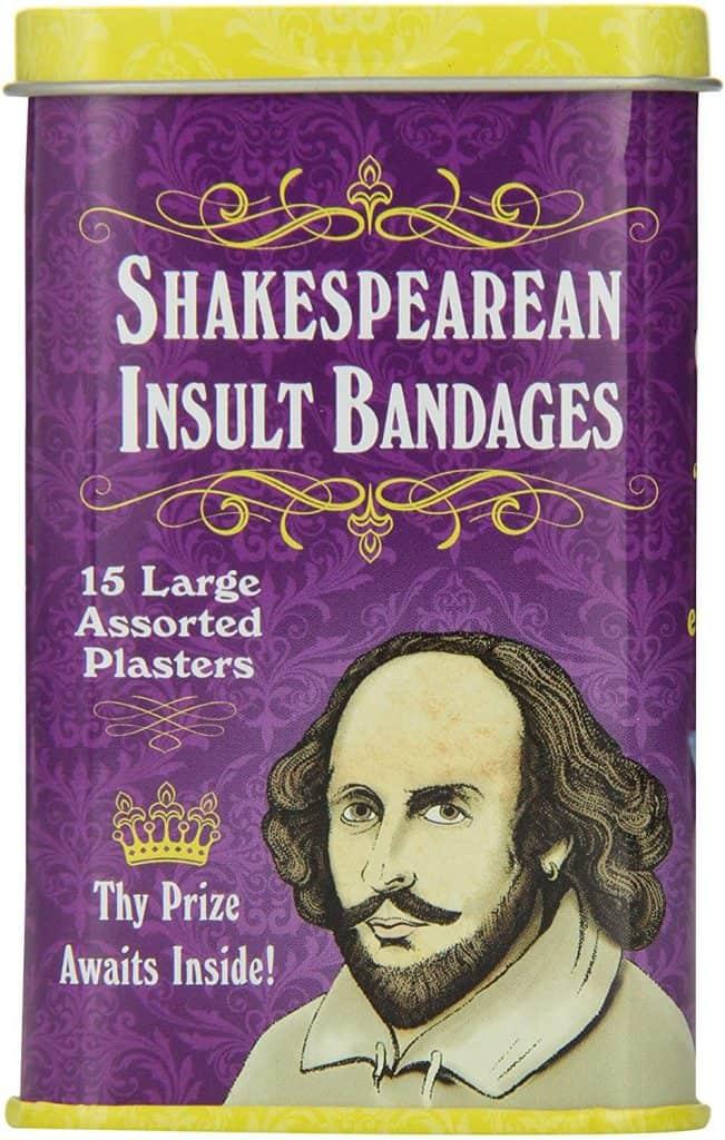 novelty gifts for white elephant: shakespearean insult bandages
