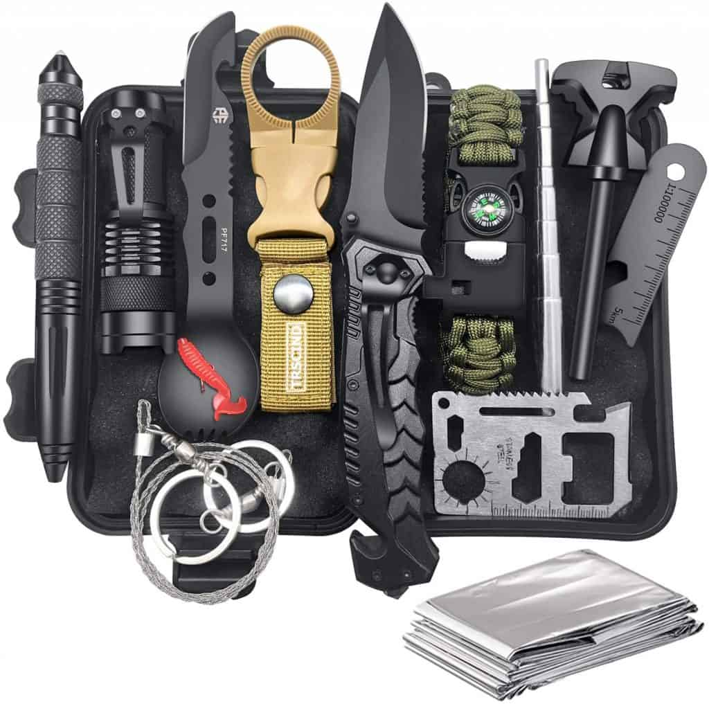 gift ideas for campers: survival gear kit