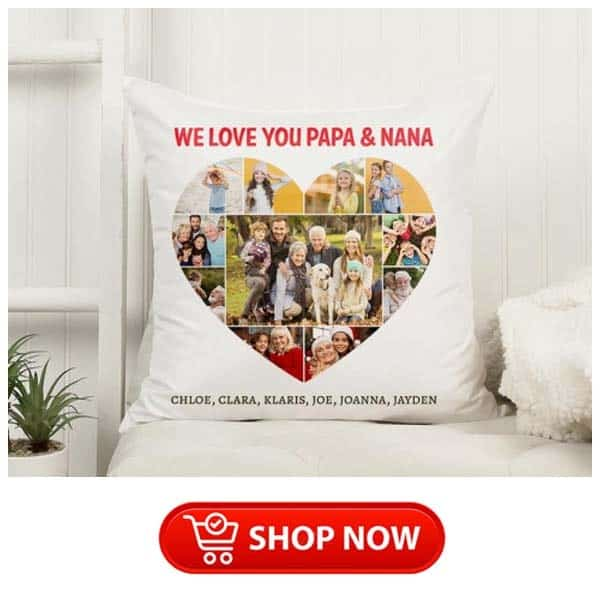 christmas gifts for older parents: We Love You Photo Pillow