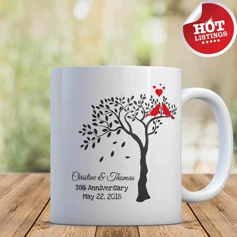 custom mug - 30th anniversary gift