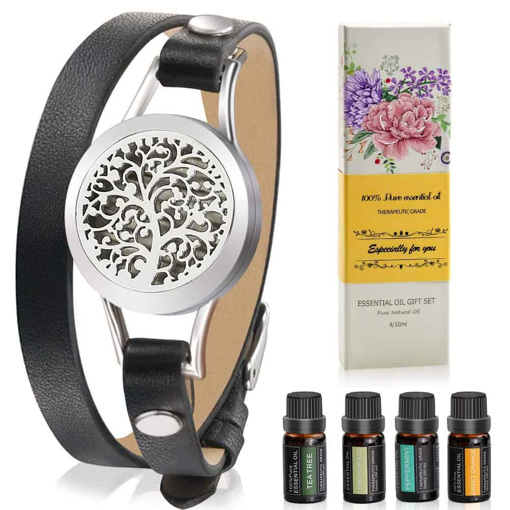 Aromatherapy Essential Oil Leather Diffuser Bracelet Gift For Daughter In Law