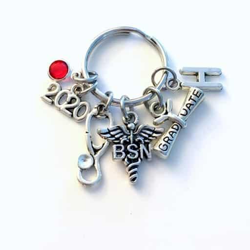 nurse graduation gift idea - Bachelor of Science in Nursing Keychain