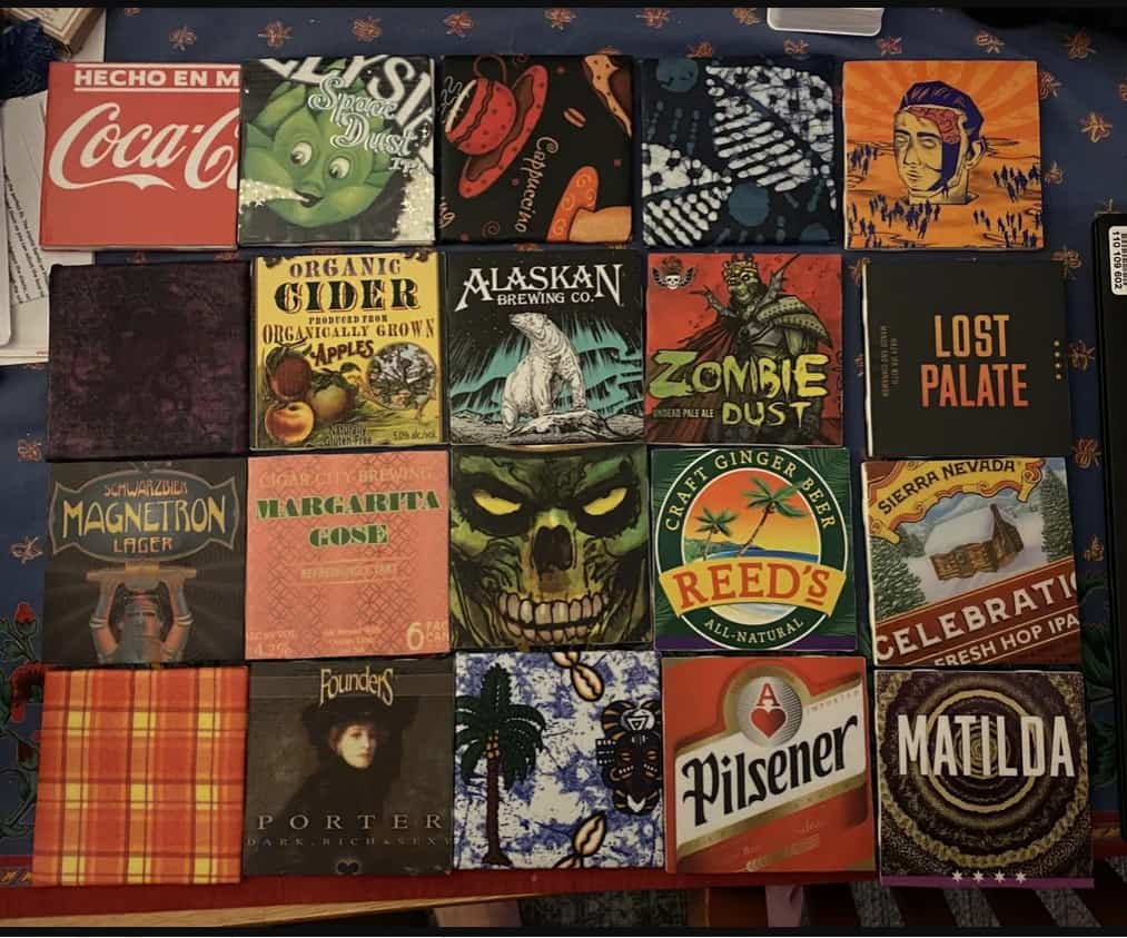 creative homemade birthday gifts for boyfriend: Beer Coasters