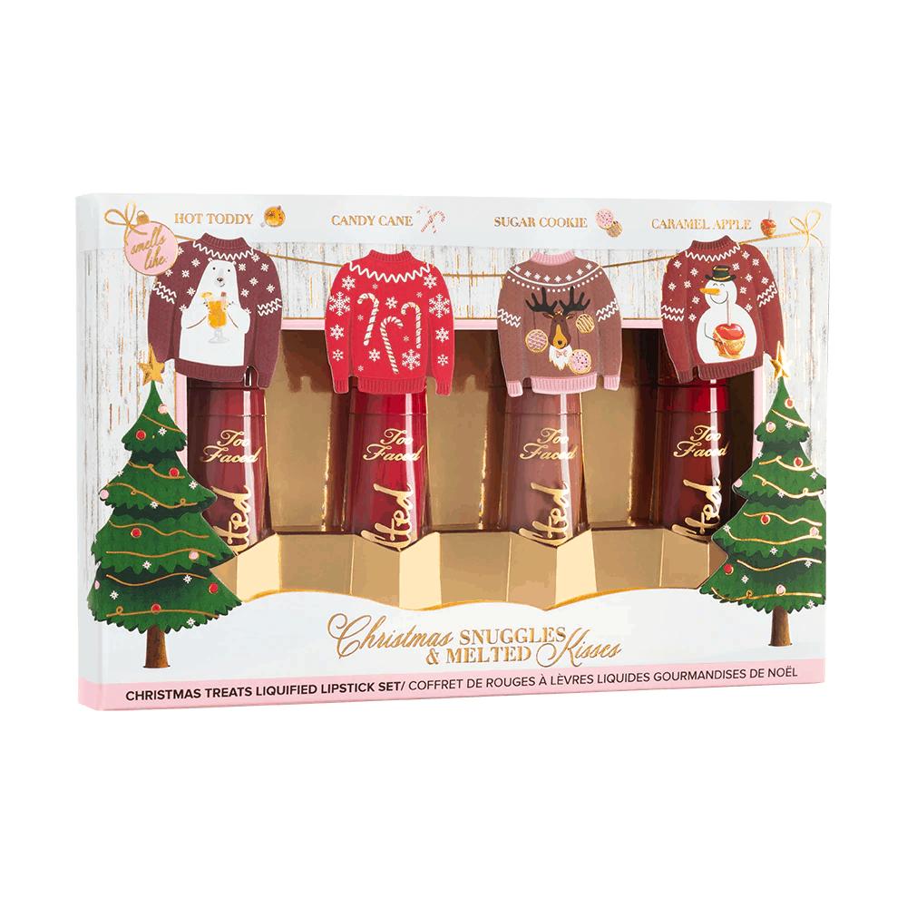 christmas makeup gift sets: Christmas Snuggles & Melted Kisses Liquid Lipstick Set