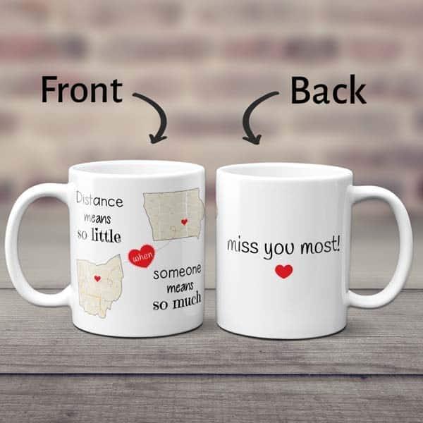 Distance Means So Little Map Mug