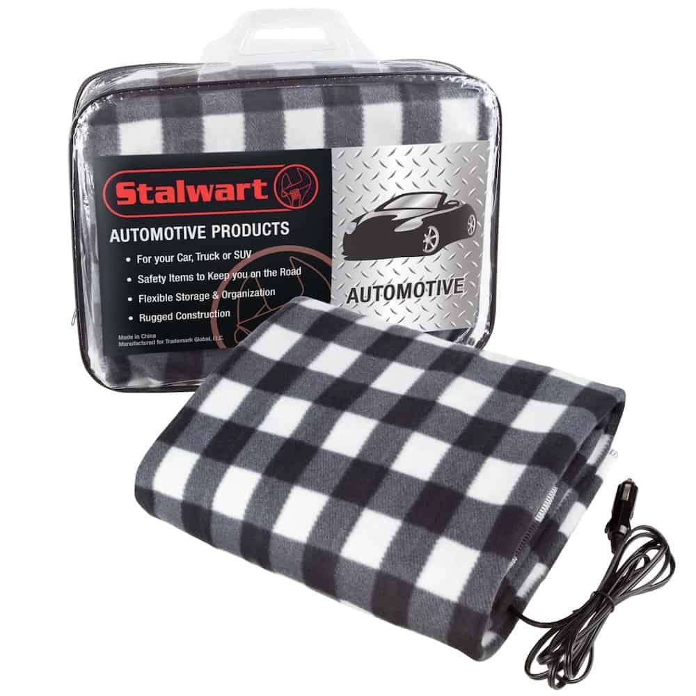Electric Car Blanket- Heated 12V Polar Fleece Travel Throw for Car, Truck & RV