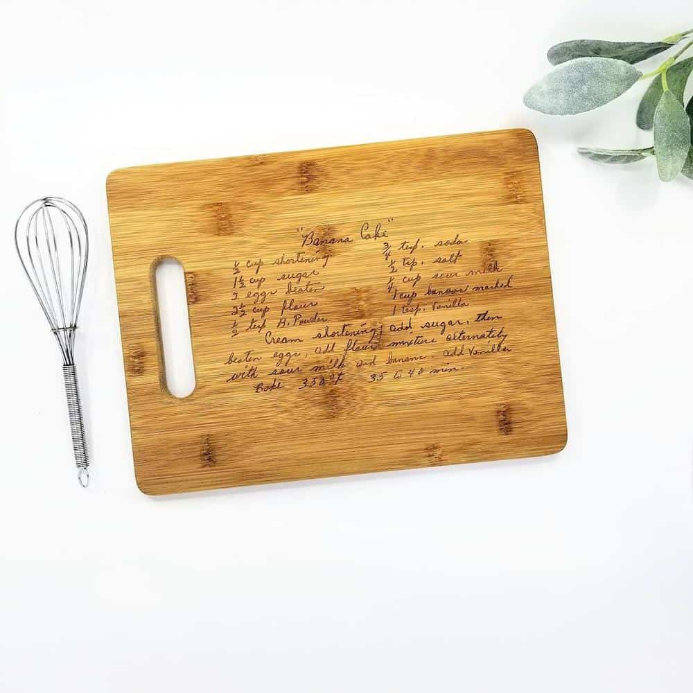 Engraved Recipe Cutting Board For Daughter In Law