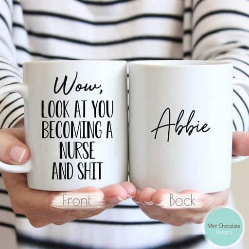 gifts for new nurse -Funny Nurse Graduation Mug
