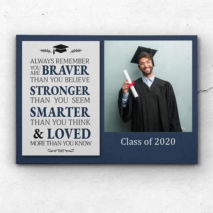 a graduation photo canvas print gift for graduating brother from high school or college