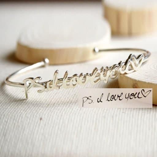 Handwriting Bracelet - love gift for her