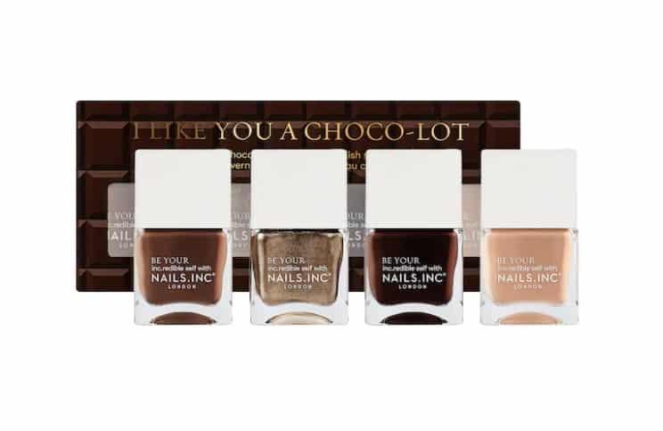 gifts sets for christmas: I Like You a Choco-Lot Nail Polish Quad Set