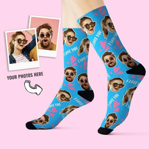 I Love You Personalized Socks - funny gift for girlfriend