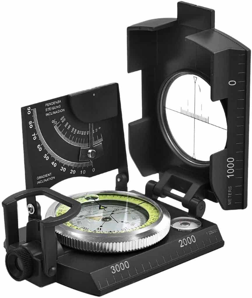 cool outdoorsy gifts: Military Compass