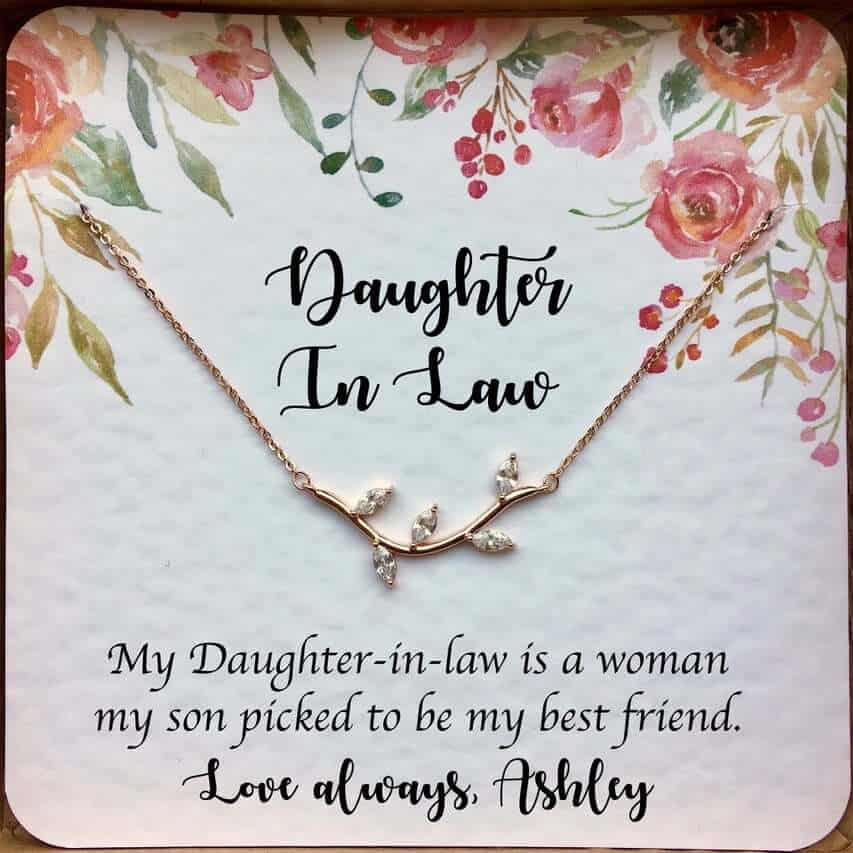 My Daughter In Law Is My best Friend Necklace Bridal Shower Gift