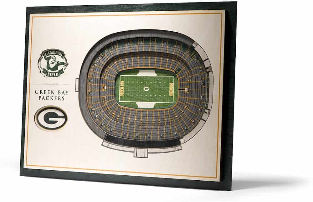 NFL Stadium Views 3D Wall Art For Sports Fan Dads