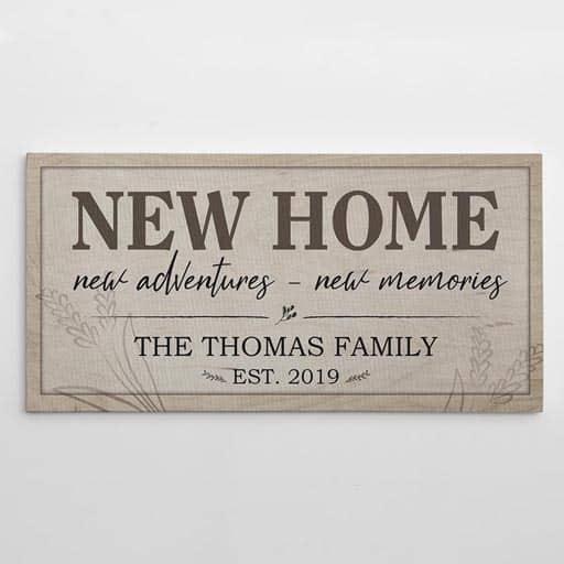 Name Family Canvas Print - housewarming gift