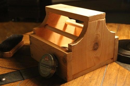 diy gifts for husband: Nifty Shoe Shine Box