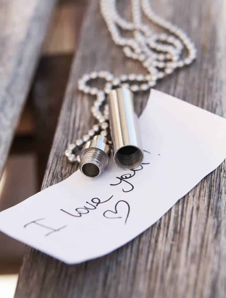 Personalized Hidden Message Necklace
