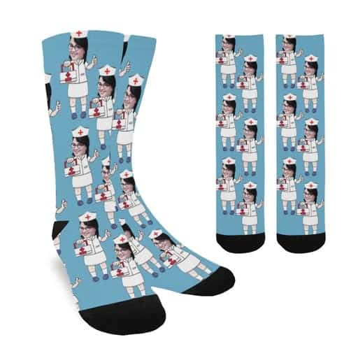 Personalized Photo Socks - funny gifts for sister in law