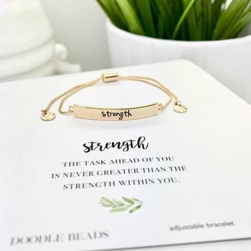 Strength Bracelet - best graduation gifts for her