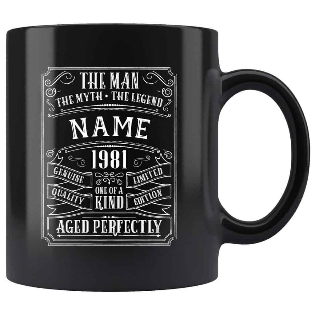 The Man The Myth The Legend 40th Birthday Mug for dad
