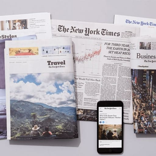 The New York Times Subscription - thoughtful college graduation gifts