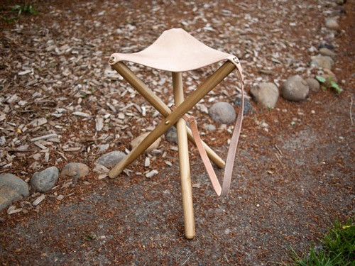projects for men: Tripod camping stool
